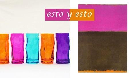 Vasos arrugados / EbanoDeco . Mark Rothko / Yale U. Press