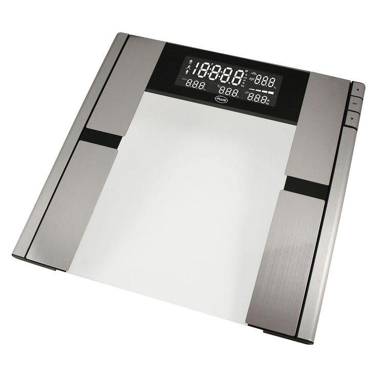 American Weigh Scales Quantum Body Fat Scale, Clear/Silver