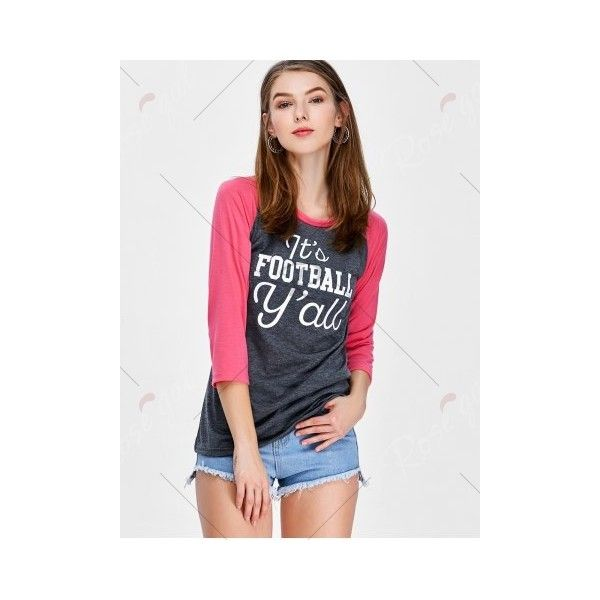 Graphic Raglan Sleeve Tee (57 ILS) ❤ liked on Polyvore featuring tops, t-shirts, graphic print tees, graphic design t shirts, raglan sleeve t shirt, raglan sleeve top and raglan sleeve tee