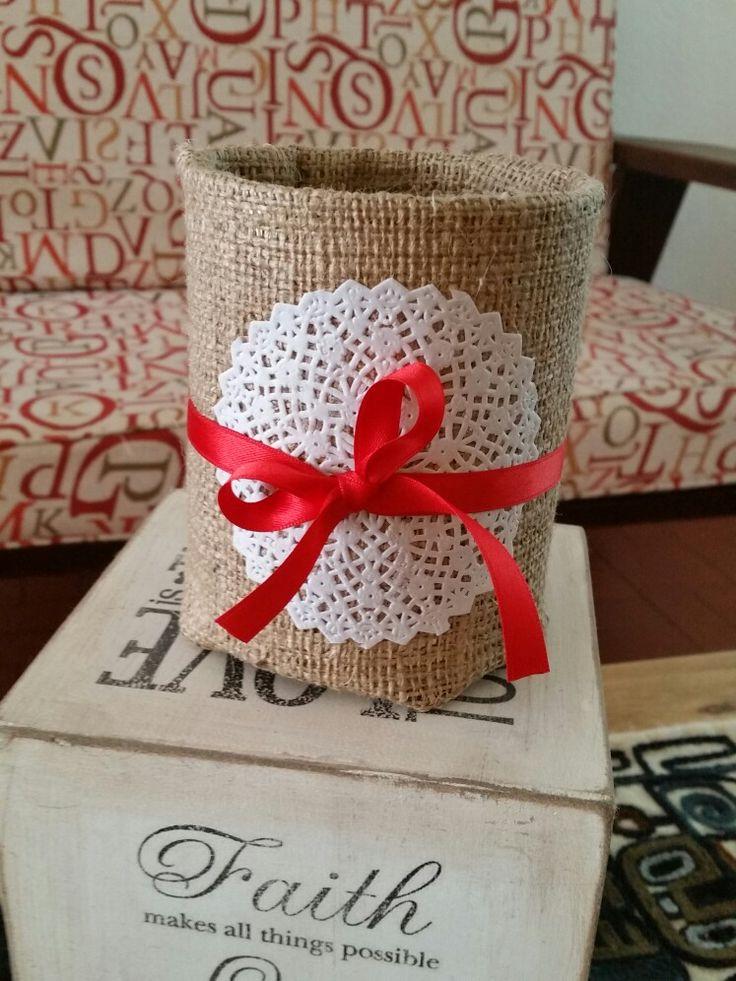 Lata navideña lata decorada