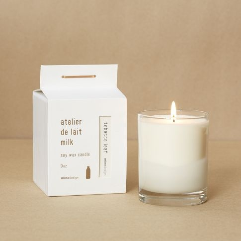 Milk soy candle packaging like @ #rockcanymedia