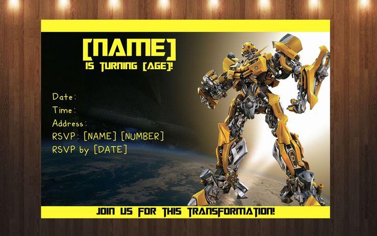 Custom Transformers Invitation Prints