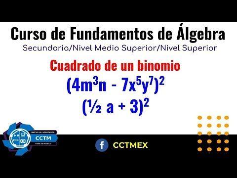 Cuadrado de un binomio|Fundamentos de Álgebra |Curso |Productos Notables...
