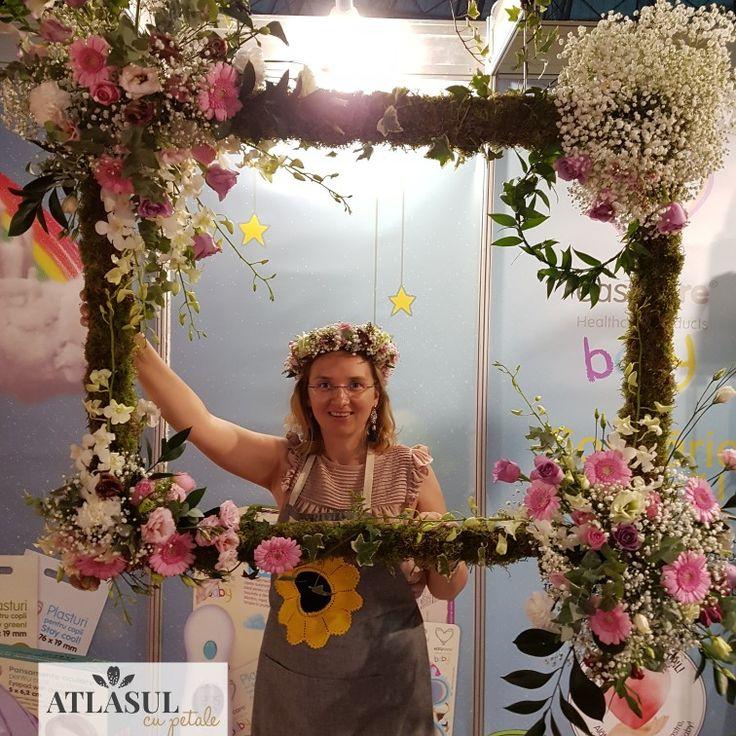 Rama cu flori pentru fotocorner pentru #botez sau #nunta