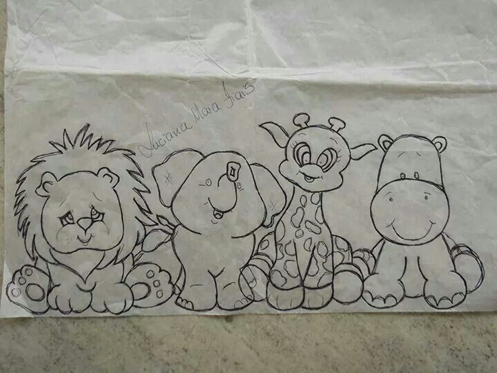 bebés safari, para pintar em tecido - Pesquisa do Google