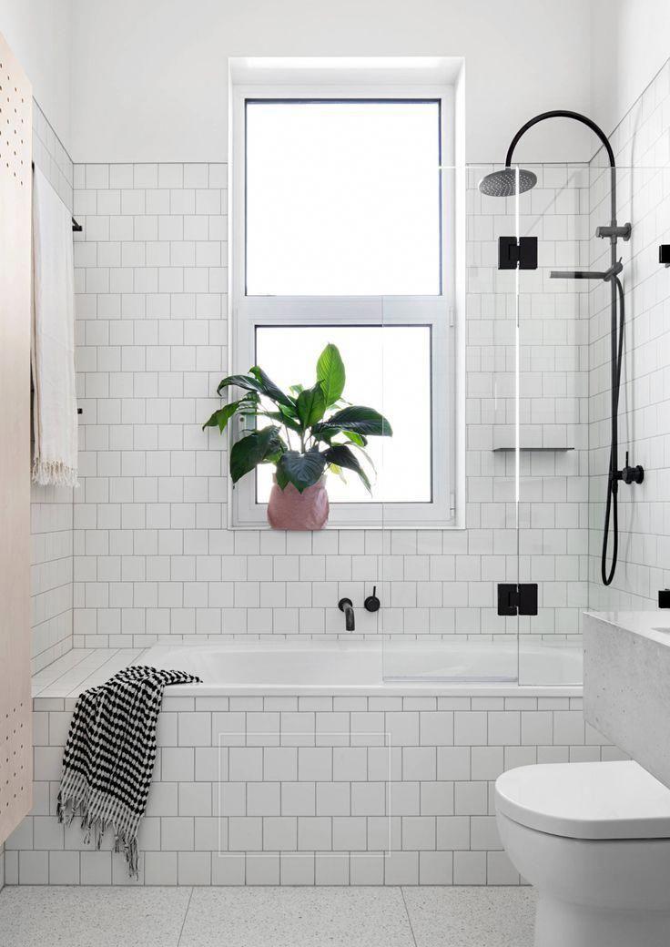 smaller tub/glass door #modernbathrooms + bathroom Bathroom