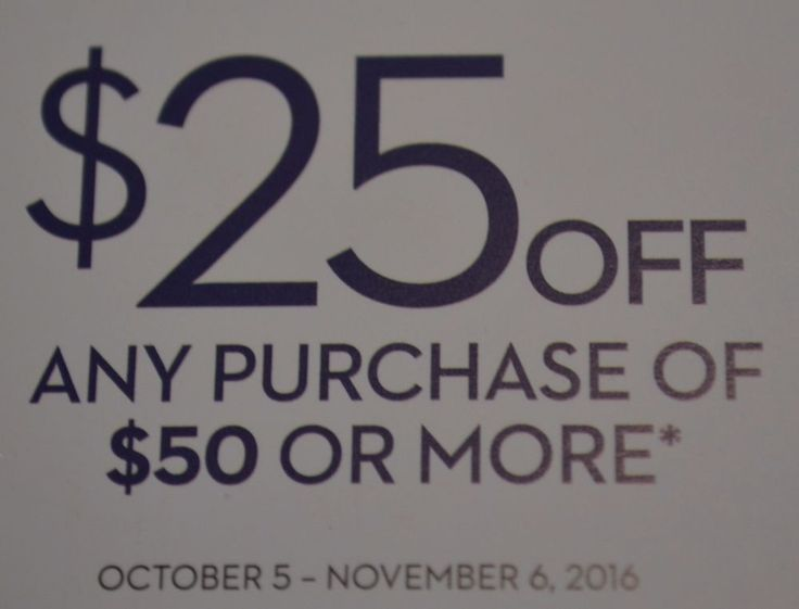CHICO'S $25 off $50 Purchase In Store Online Outlets or by Phone Expires 11/6/16