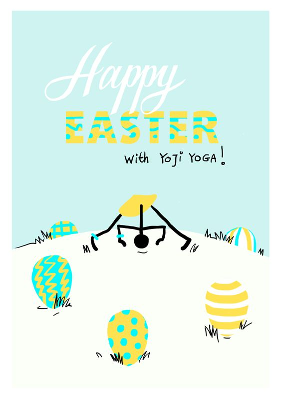 Happy Easter Yoga Hunting For Easter Eggs In Wide Legged