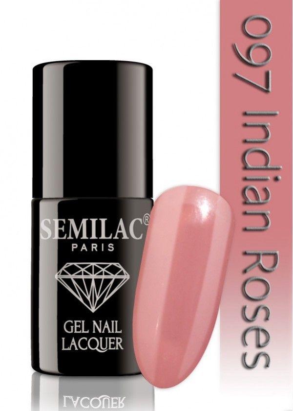 Semilac 097 Indian Roses UV&LED Nagellack. Auch ohne Nagelstudio bis zu 3 WOCHEN perfekte Nägel!