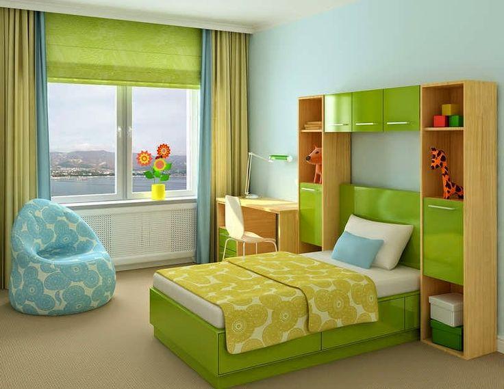 Habitaciones para adolescentes color verde home for Roperos para habitaciones pequenas