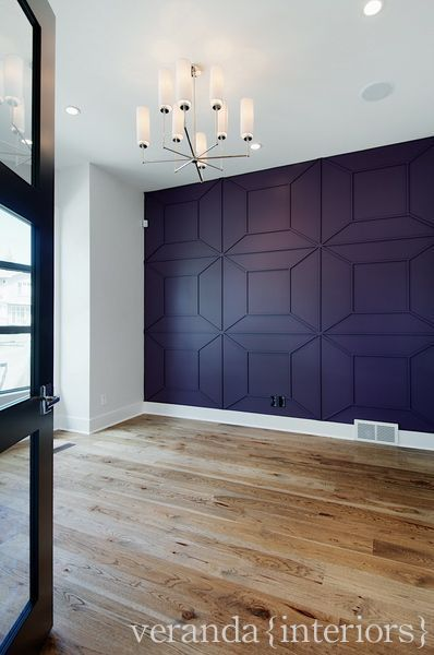 trim ideas - intricate pattern created on a wall with trim, from Veranda Interiors