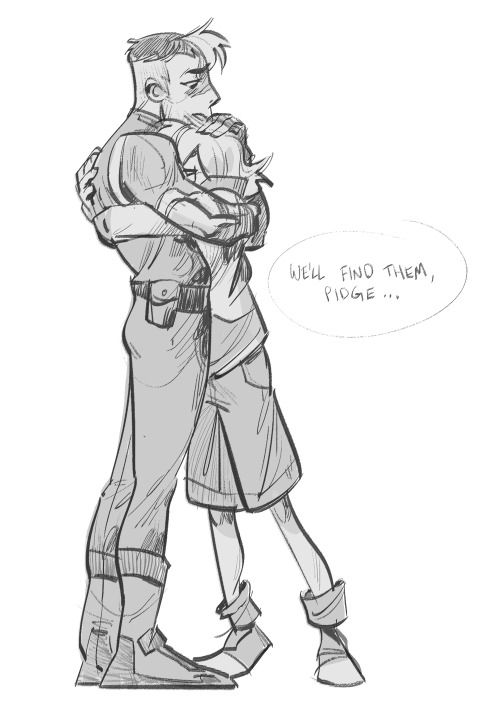 Shiro and Pidge from Voltron LD. I'm going to put this here but I've read a few fanfics lately where the writer paired these two. Pidge's canon age is 14 and Shiro is 25. If you're AUing it so they're closer to the same age, I think it's probably fine but other wise it's kinda creepy, guys....