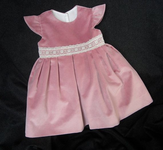 Pink velvet baby girl's christening  by FavorsAndMorebyFiona, €150.00