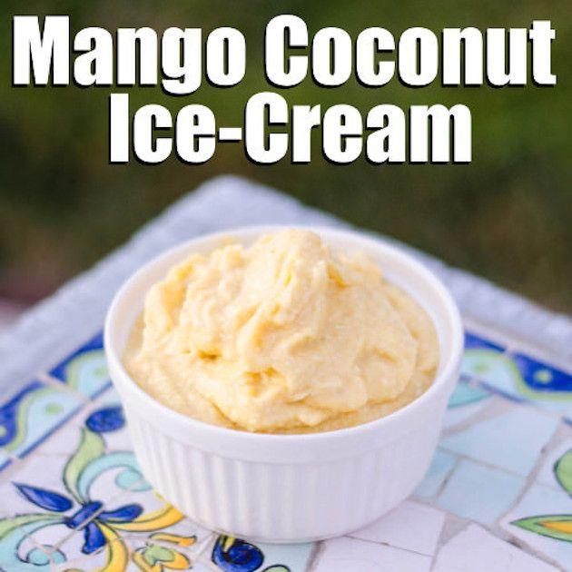 Mango Coconut Ginger Paleo ice Cream Recipe