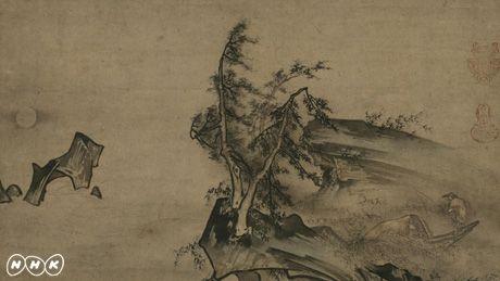 雪村周継「月夜独釣図」(ドラッカー・コレクション)経営学の父、ピーター・ドラッカー(1909-2005)は、長年にわたる日本美術の熱烈なファンでありコレクターだった。半世紀にわたって集めた日本美術コレクションは二百点あまり、その大部分が、室町時代の山水画や江戸時代の禅画、文人画などの水墨画である。ドラッカーは70歳の頃、『日本美術へのラブレター』という評論を著した。「私は日本美術と恋に陥ってしまった」という告白で始まり、「日本美術を恋する者には尽きない喜びがある」と終わるドラッカーの『日本美術へのラブレター』。そこには、日本美術が自分の人生にいかに大切なものだったか、という個人的体験とともに、日本美術が世界的に見ていかに優れたものか、という独創的見解がつづられている。 番組では、ドラッカーのコレクションを『ラブレター』の朗読とともに紹介、作品収集の裏にあるドラッカーの日本美術にまつわる人生と思想を明らかにする。