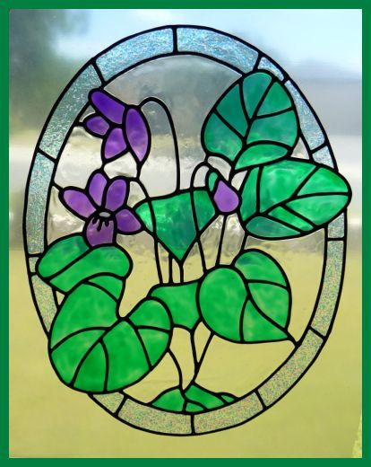 Well known 8 best Stained glass violets images on Pinterest | Stained glass  UF14