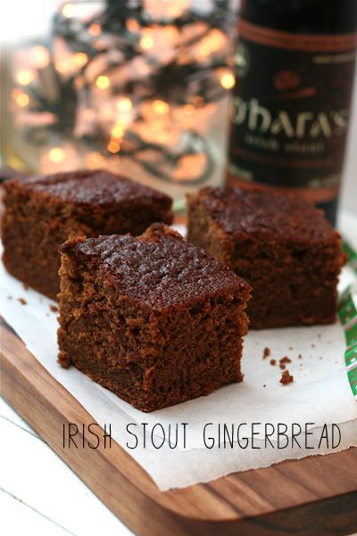 Irish Stout Gingerbread Recipe @  http://www.foodnetwork.com/recipes/nigella-lawson/guinness-gingerbread-recipe/index.html