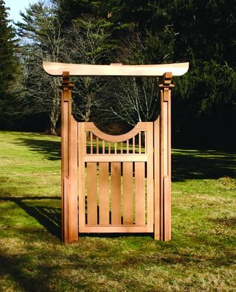 The Tori Gate Would Make A Beautiful Focal Point In Any Garden,  Particularly One With