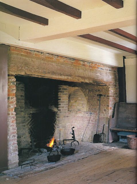 This wonderful fireplace is for cooking and drying within/near. It is part of Western European and Early American architecture and would be found in the main room of a house or a kitchen.