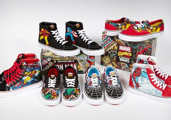 Marvel Comics x Vans Collection | Marvel shoes, Marvel clothes ...