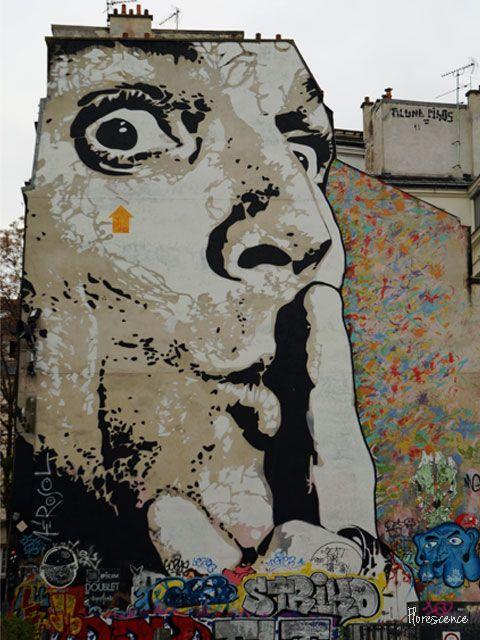 Street art near the Pompidou Centre, Paris, France (c) Floresence