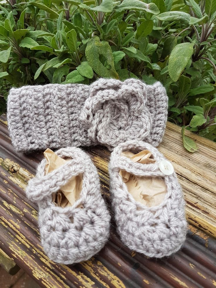NEWBORN cute baby girl crocheted mary janes and matching headband-crochet-new baby-baby shower-little sister-grandaughter-daughter-cute by Vinylqueen1981 on Etsy