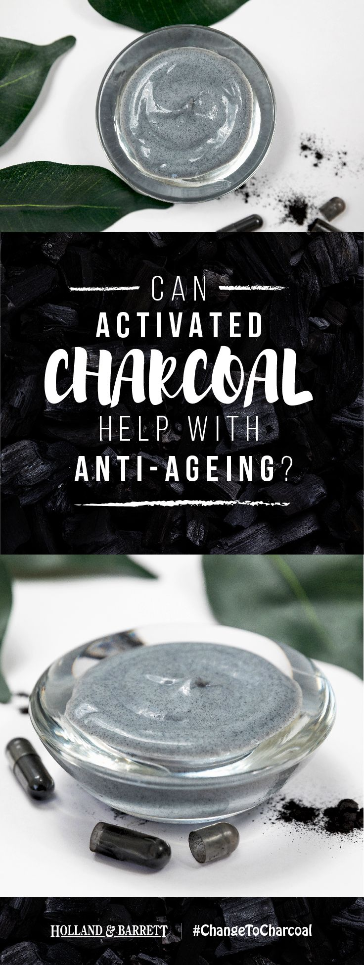 Keeping your skin looking great with age can sometimes be tricky. With its anti-ageing effects, activated charcoal could be the new secret ingredient in your beauty bag that'll help keep your skin looking radiant. #ChangeToCharcoal