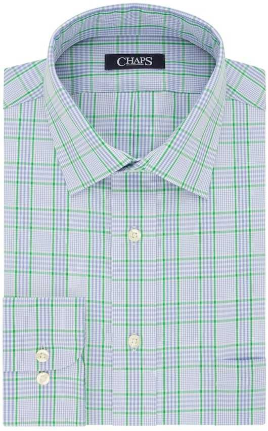 Chaps Big & Tall Regular-Fit Stretch-Collar Wrinkle-Free Dress Shirt