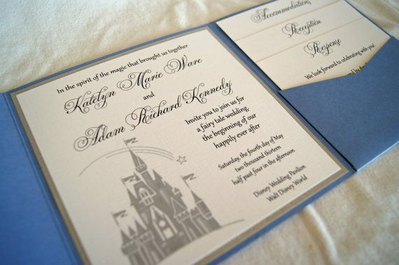 Fairytale castle pocketfold wedding invitation by SomerStudios, $5.50