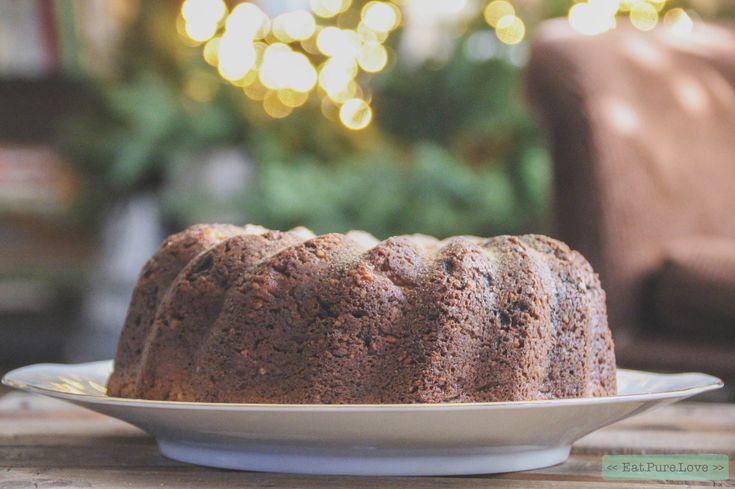 Glutenvrije tulband met appel, rozijnen en kaneel. #kersttulband #cake #eatpurelove www.eatpurelove.nl