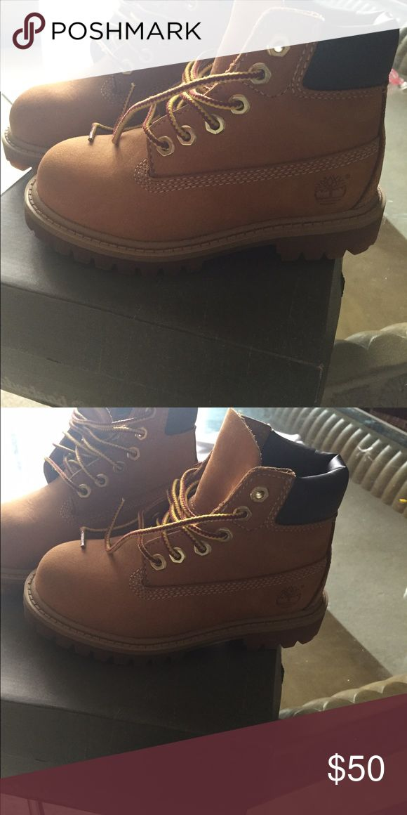 Toddler Girls Timberland Boots Wheat color size 9.  Excellent condition Shoes Lace Up Boots