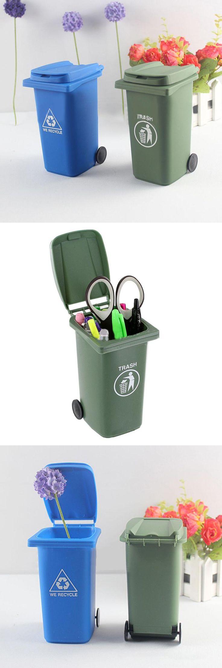 wholesale waste bins icarekit mini curbside desk trash u0026 recycle can garbage office set
