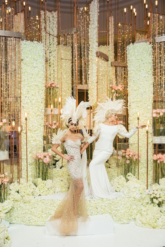 Magnificent flowers installation by Flowers Tme with the Famous Russian designer @mariakamenskaya for the WedLuxeShow #flowers#toronto#wedding#pink#white#color