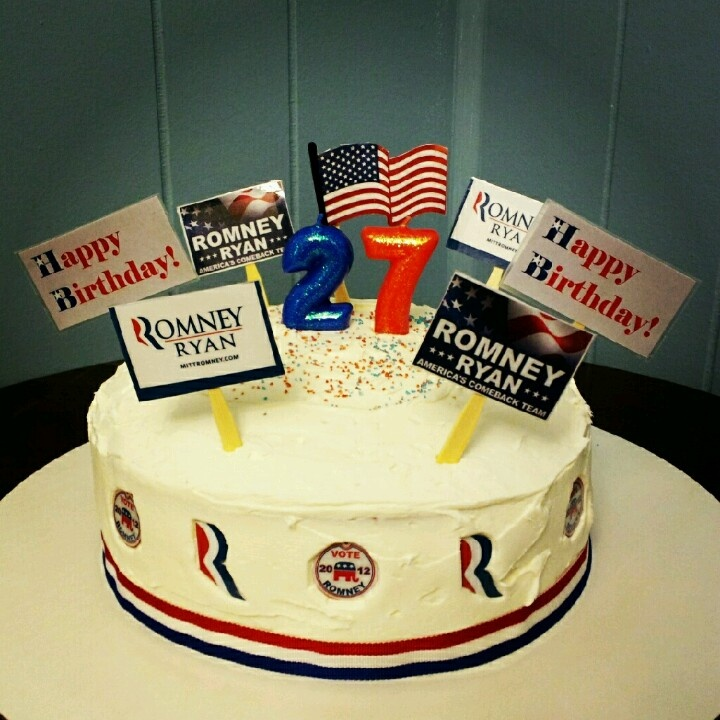 Pin Mitt Romney And Obama Funny Pics Cake on Pinterest