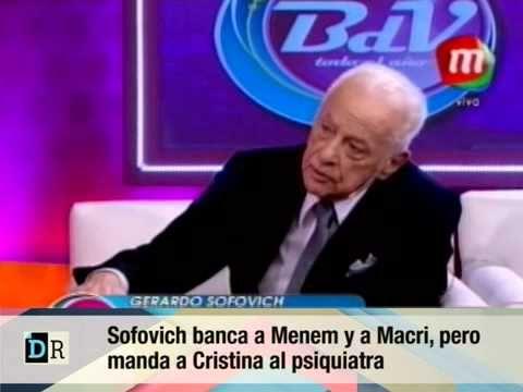 Sofovich pro Menem y Macri manda a Cris al psiquiatra 21 11