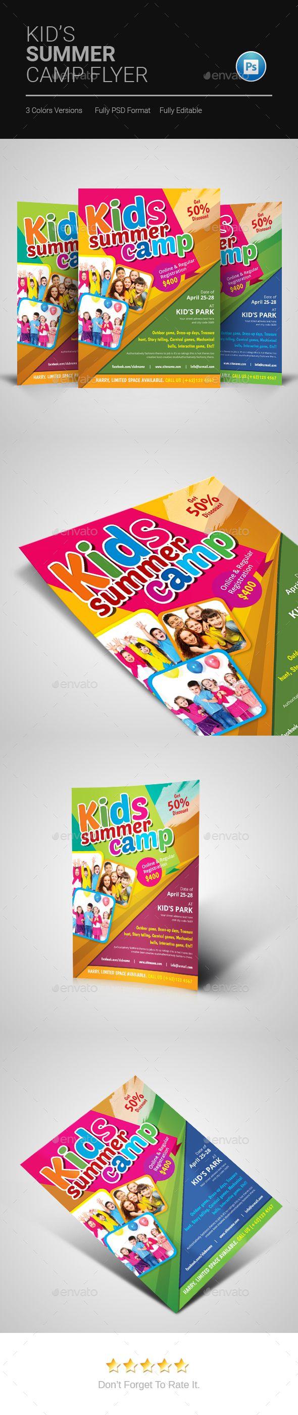 Kids Summer Camp Flyer by artBeta
