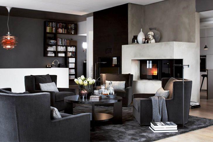 Новая порция элегантных интерьеров от Slettvoll   Пуфик - блог о дизайне интерьера
