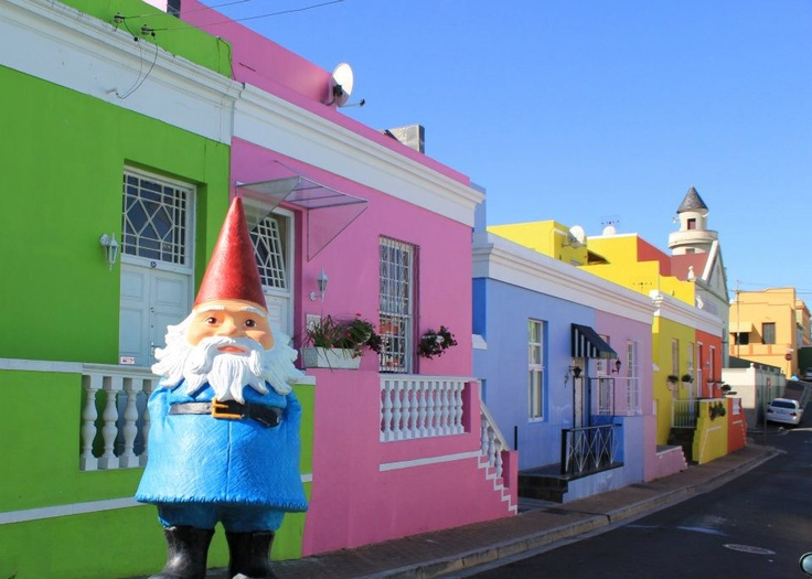 No one knows for sure why the Bo-Kaap house are painted in Capetown, South Africa but I myself fancy the pink one.  For more of my travel snaps check out https://www.facebook.com/travelocity | #Roaminggnome #travelocity #travel #southafrica #capetown