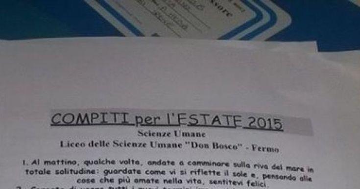 Sta facendo il giro dell'Italia la lista dei compiti per le vacanze consegnata agli alunni dal professore Cesare Catà, insegnante al Liceo delle Scienze Umane