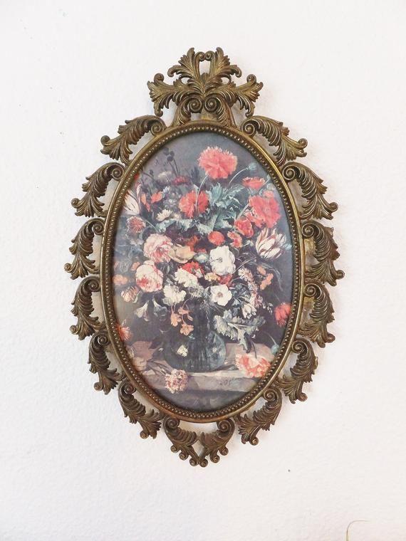 "4 old decorative Brass Corners Picture Frame vintage 3 1//4/"" Appliques ADORNMENTS"