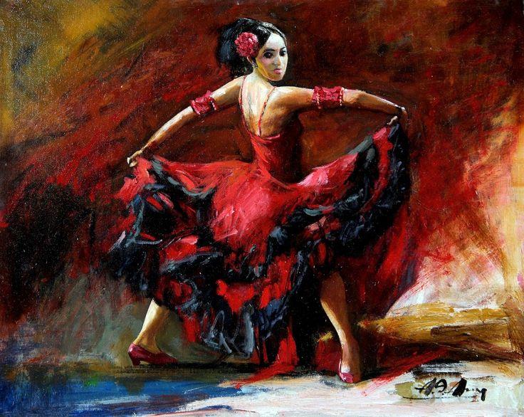Alim Adilov: Spanyol táncosnő - Vándorfény Galéria