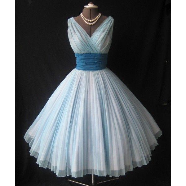 1950s prom dresses | 1950s Fred Perlberg chiffon prom dress by MelindaOrton