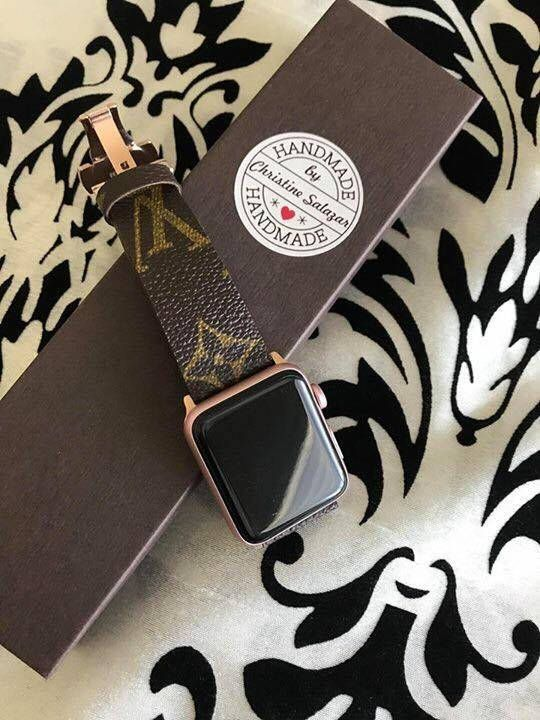 Handmade Louis Vuitton Apple Watch Band