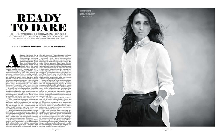 Ready to Dare.  For full article http://josephinemckenna.net/portfolio/tods-dares-to-wear/