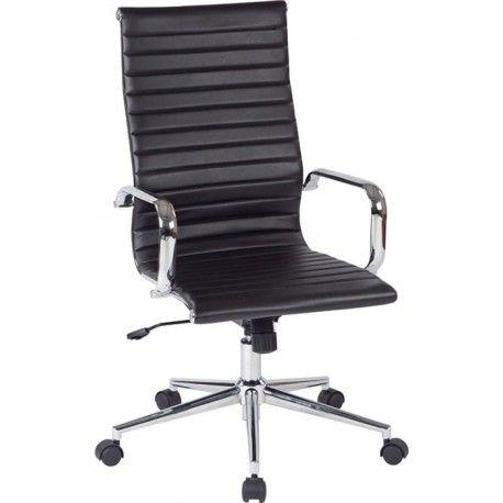 silla oficina negra alta