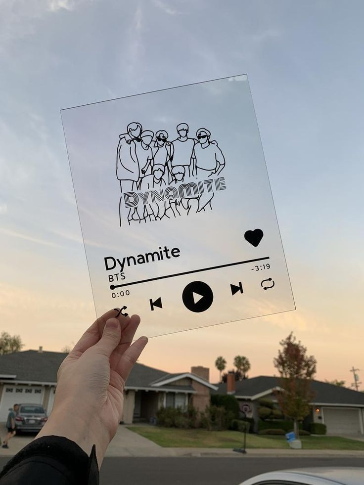 BTS Dynamite Spotify Acrylic Plaque 8x10in   Etsy in 2020   Acrylic plaques, Custom album covers ...