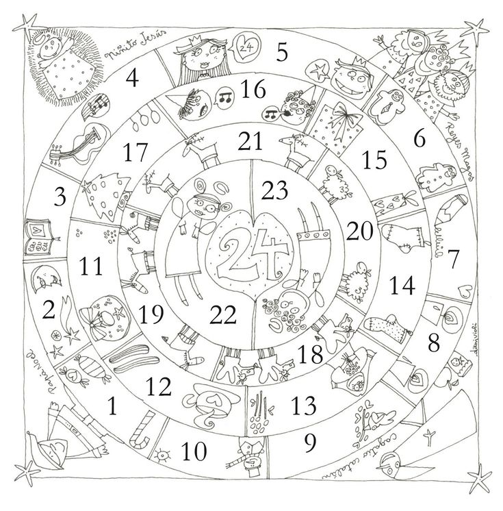 Circular Advent Calendar--would be fun to make our own version using the Jesse Tree images