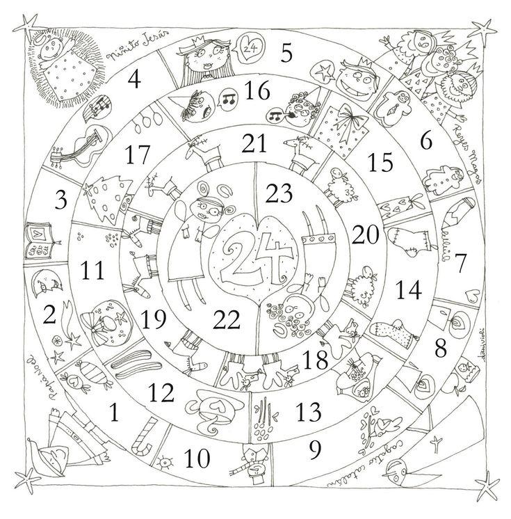 mandala calendrier de l'avent