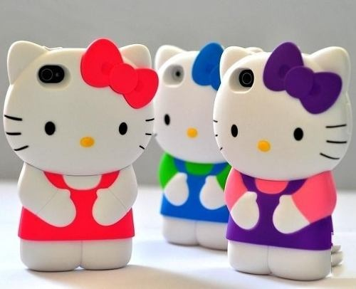 Lindas Capinhas Hello Kitty Para Iphone 4, Iphone4s E 3 G - R$ 45,00