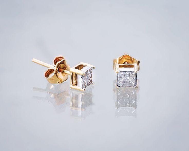Kolczyki na ślub, gdzie diamenty grają rolę główną.  #ślub #wedding #kolczyki #kolczykizdiamentami #sztyfty #ślubneinspiracje